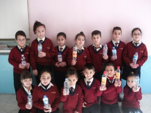 The Eko Skola Committe used plastic bottles instead of Water Hippos