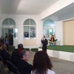 The Head of School, Mr. A. Debattista delivering his welcome speech.