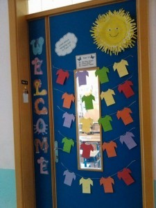 Class door  2015-2016- Welcome to Ms Gambin's Class (LSAs  Ms Magro & Ms Peplow)